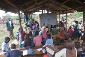 The current classroom in Lemolo.