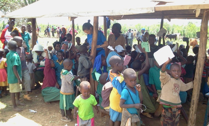 The current makeshift school in Lemolo.