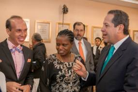 Having a chat with Mexico city governor