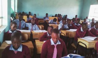 Students at Bright Hope High School